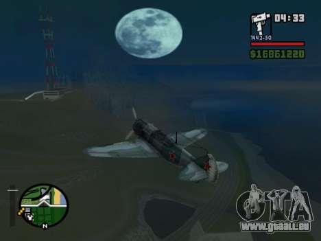 LA-5 pour GTA San Andreas sur la vue arrière gauche