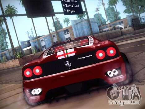 Ferrari 360 Challenge Stradale pour GTA San Andreas vue de droite