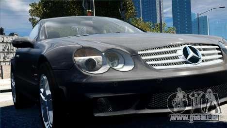 Mercedes-Benz SL65 2007 für GTA 4 Rückansicht