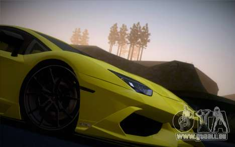 Lamborghini Aventador LP720-4 50th Anniversario für GTA San Andreas zurück linke Ansicht