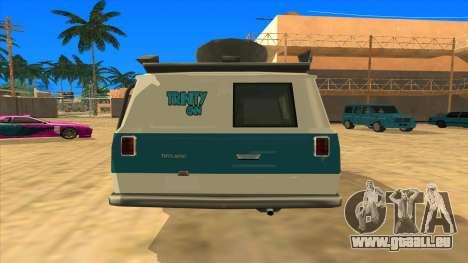 News Van HQ für GTA San Andreas zurück linke Ansicht