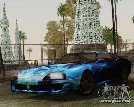 Les travaux de peinture pour Jester pour GTA San Andreas sur la vue arrière gauche
