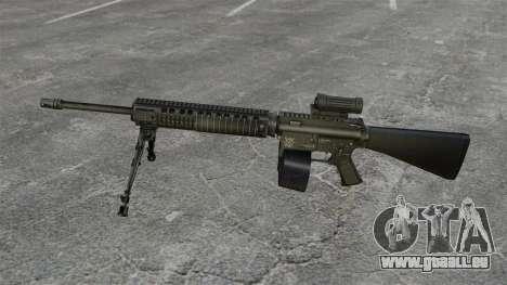 Fusil d'assaut M16A4 C-MAG portée pour GTA 4 troisième écran