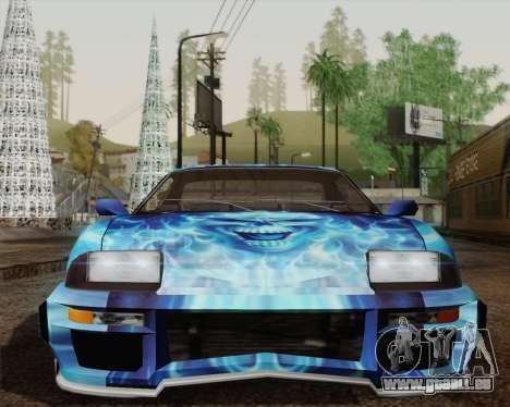 Les travaux de peinture pour Jester pour GTA San Andreas vue arrière