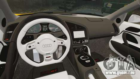 Audi R8 GT Spyder für GTA 4 Innenansicht