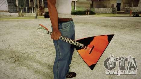 Balalaïka pour GTA San Andreas troisième écran