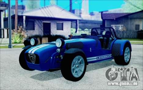 Caterham R500 Superlight 2008 pour GTA San Andreas
