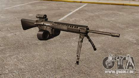 Fusil d'assaut M16A4 C-MAG portée pour GTA 4