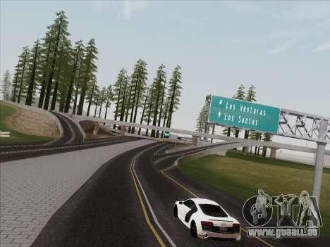 Audi R8 V10 Plus für GTA San Andreas Rückansicht