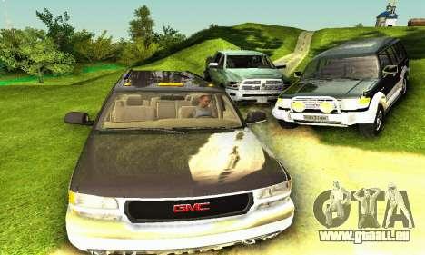 GMC Yukon XL 2003 pour GTA San Andreas vue arrière
