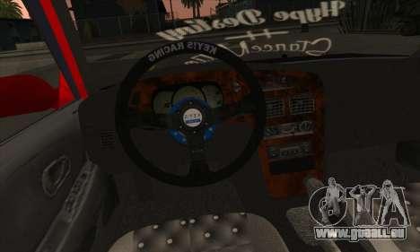 Proton Wira Hype pour GTA San Andreas vue de dessus
