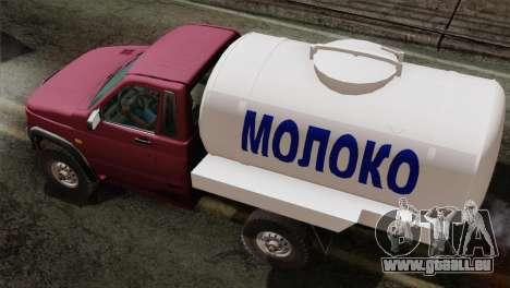 UAZ-2360-Milch für GTA San Andreas zurück linke Ansicht
