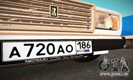BUNKER VAZ 2107 pour GTA San Andreas vue de dessus