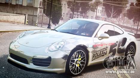 Porsche 911 Turbo 2014 für GTA 4 Rückansicht