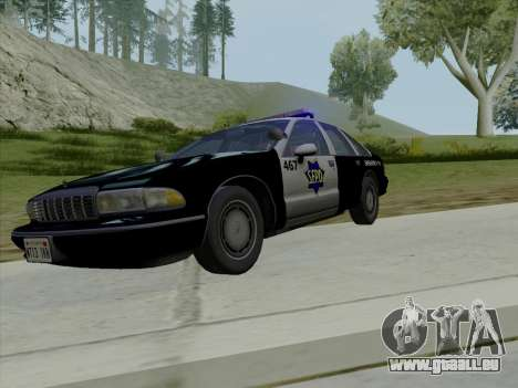 Chevrolet Caprice SFPD 1991 pour GTA San Andreas vue de dessus