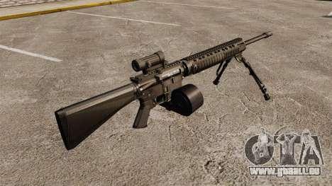 Fusil d'assaut M16A4 C-MAG portée pour GTA 4 secondes d'écran