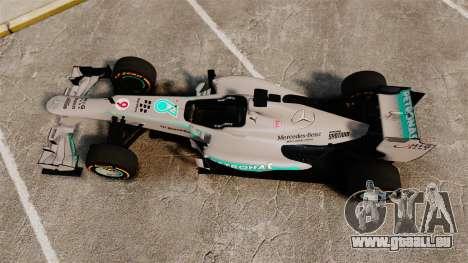 Mercedes AMG F1 W04 v3 für GTA 4 rechte Ansicht