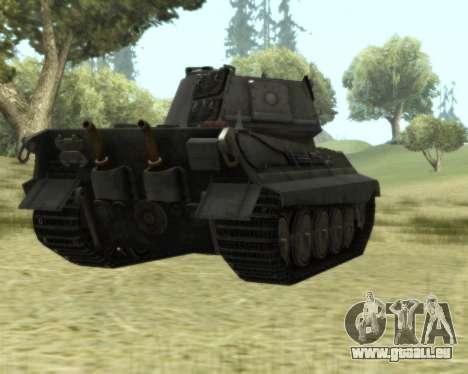 PzKpfw VIB Tiger II pour GTA San Andreas vue arrière