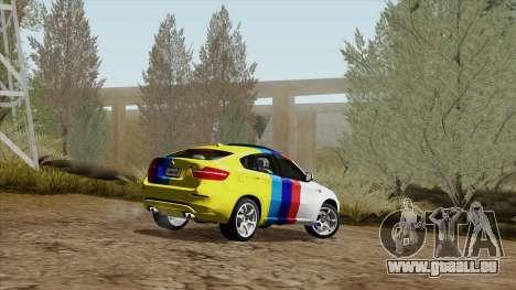 BMW X6M für GTA San Andreas Innen