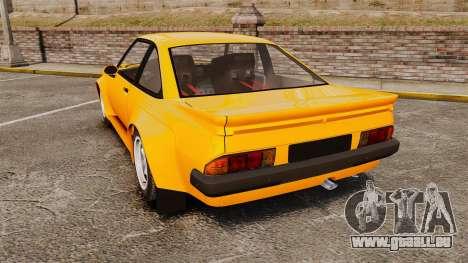 Opel Manta für GTA 4 hinten links Ansicht