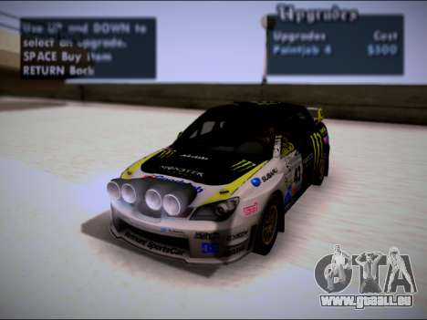 Subaru Impreza WRX STI WRC pour GTA San Andreas vue de côté