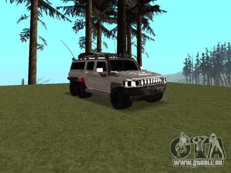Hummer H3 6x6 pour GTA San Andreas vue intérieure