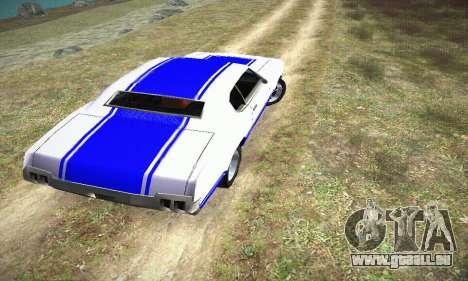 GTA IV Sabre Turbo pour GTA San Andreas laissé vue
