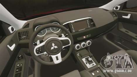 Mitsubishi Lancer Evolution X GSR 2008 für GTA 4 Innenansicht