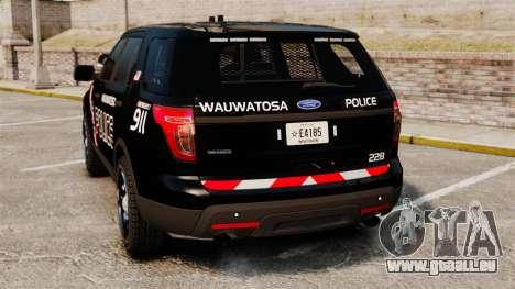 Ford Explorer 2013 Utility - Slicktop [ELS] pour GTA 4 Vue arrière de la gauche