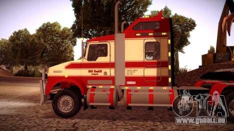 Kenworth RoadTrain T800 für GTA San Andreas zurück linke Ansicht