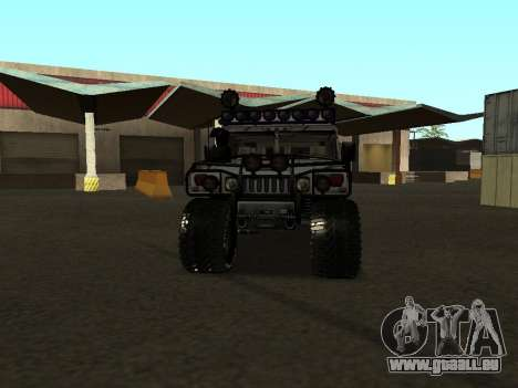 Hummer H1 Offroad für GTA San Andreas Rückansicht