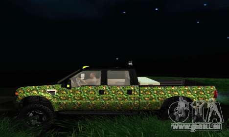 Ford F-250 Realtree Camo Lifted 2010 für GTA San Andreas rechten Ansicht