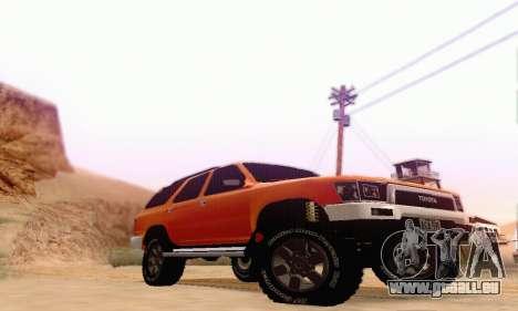 Toyota 4Runner 1995 pour GTA San Andreas sur la vue arrière gauche
