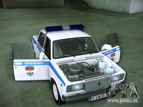 Lada 2107 Rendőrség pour GTA San Andreas vue de côté