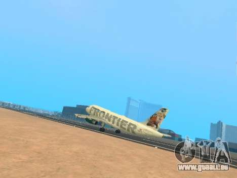 Airbus A319-111 Frontier Airlines Red Foxy pour GTA San Andreas salon