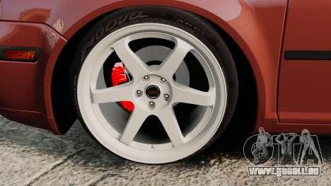 Volkswagen Bora VR6 2003 pour GTA 4 Vue arrière