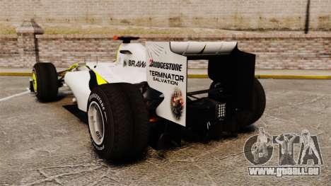 Brawn BGP 001 2009 pour GTA 4 Vue arrière de la gauche