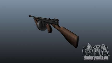 Pistolet mitrailleur Thompson M1928 pour GTA 4 secondes d'écran