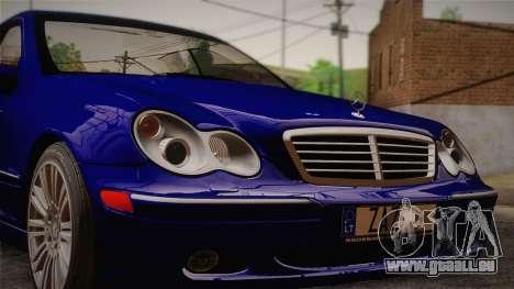 Mercedes-Benz C320 Elegance 2004 pour GTA San Andreas sur la vue arrière gauche
