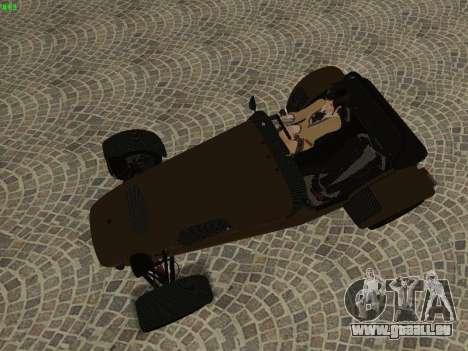 Caterham 7 Superlight R500 pour GTA San Andreas vue de côté