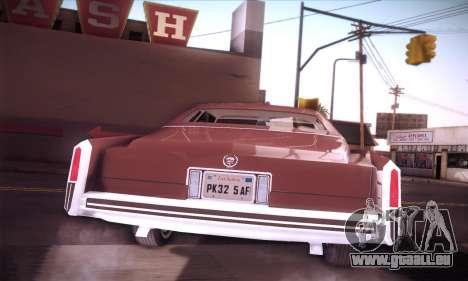 Cadillac Eldorado 1978 Coupe pour GTA San Andreas vue intérieure