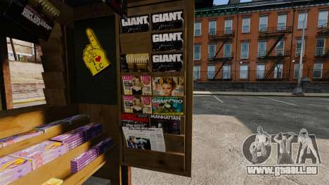 Neue Produkte in der Kaffee-kiosk für GTA 4 weiter Screenshot