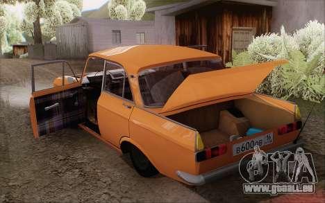 Moskvitch 412 pour GTA San Andreas vue arrière