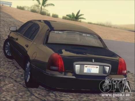 Lincoln Town Car 2010 für GTA San Andreas Innen