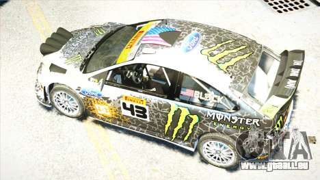 Ford Focus RS Monster World Rally Team WRC für GTA 4 Innenansicht