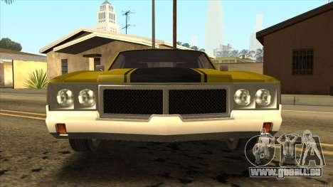 Sabre HD from GTA 3 für GTA San Andreas zurück linke Ansicht