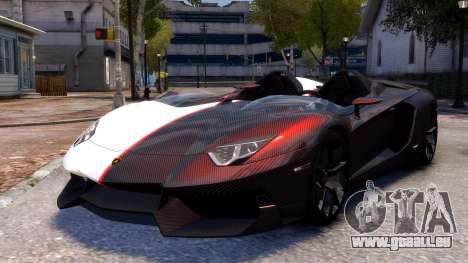 Lamborghini Aventador J 2012 Carbon pour GTA 4 Vue arrière de la gauche