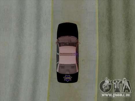 Chevrolet Caprice SFPD 1991 für GTA San Andreas Rückansicht