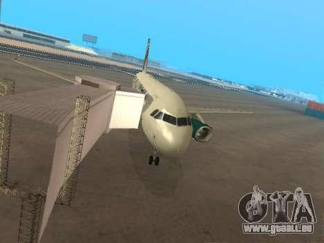Airbus A319-111 Frontier Airlines Red Foxy für GTA San Andreas Unteransicht