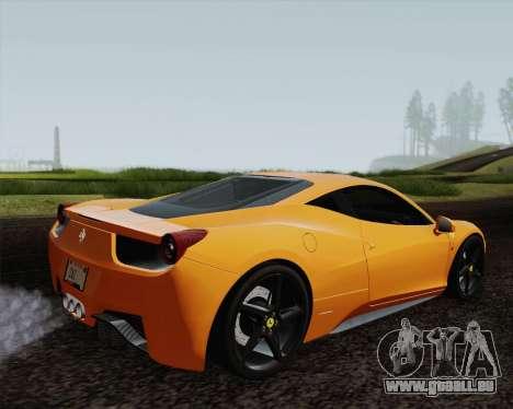 Ferrari 458 Italia 2010 für GTA San Andreas Unteransicht
